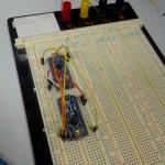 Reflashage du bootlader d'un Nano via un Nano : câblage terminé