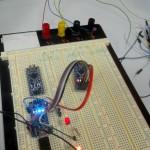 Reflashage du bootlader d'un Nano via un Nano : en cours sur un Nano fonctionnel