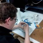 Waldeck G. en pleine gravure de PCB DIY
