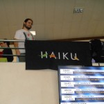 Adrien D. perché sur le stand Haiku.